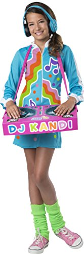 Dj Halloween Costume (InCharacter DJ Kool Kandi Costume, Multicolor, Medium)