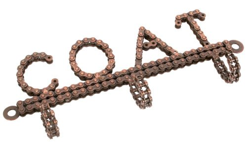 Fair Trade Handmade Recycled Bicycle Chain Triple Coat Hook