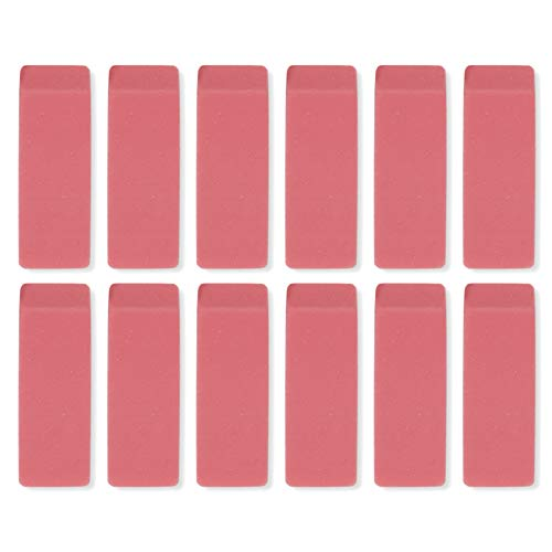 (Pink Rubber Premium Bevel Erasers – Bulk Wholesale 12 Pack, Perfect for Schools and Teachers)
