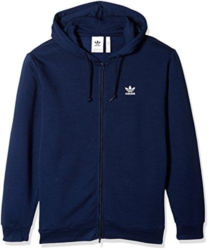 - adidas Originals Men's Trefoil Full-Zip Fleece Hoodie, Collegiate Navy, XS