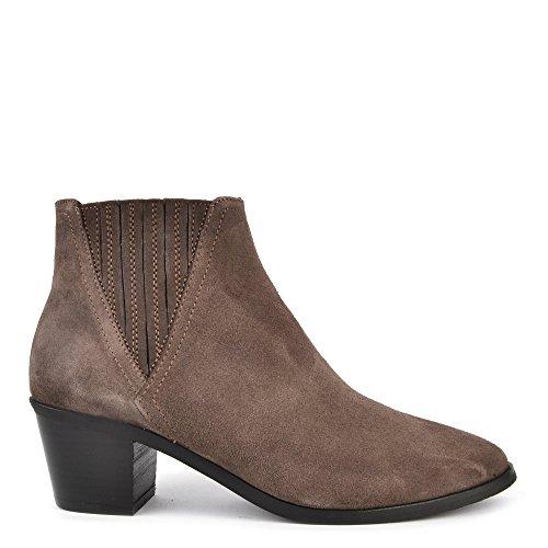 40486eb3d81 85%OFF Kanna Chaussures Sara Bottines en Daim Taupe Femme ...