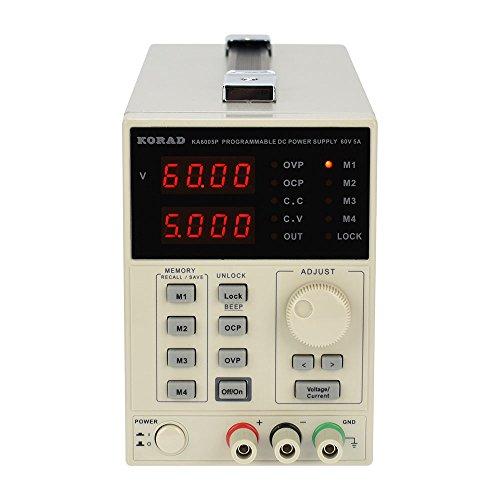 KORAD KA6005P -Programmable Precision Variable Adjustable 60V, 5A DC Linear Power Supply Digital Regulated Lab Grade