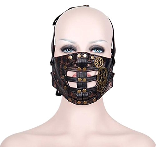 Jackdaine Steampunk Gothic Personality Rock Gear Anti-fog Breathable Sports Riding Mask by Jackdaine