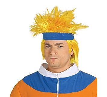 Peluca de Ninja Narute manga amarilla con cinta