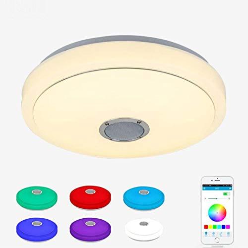 Luz de techo del LED, lámpara elegante del techo de la música de Bluetooth con el altavoz, APLICACIÓN minimalista moderna...