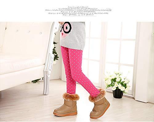 48b01be336b Fancy Youyee Toddler Kids Girls Pants Winter Thick Fleece Lined Christmas  Leggings Tights (Rose spot