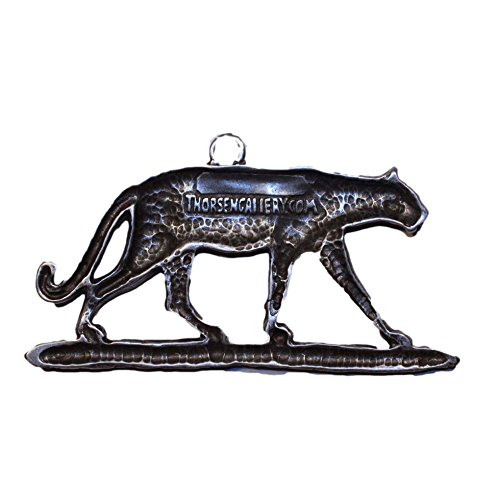 Gorgeous Cougar Puma Christmas Ornament Medallion Hanging Charm Key Chain Eric Thorsen Montana USA