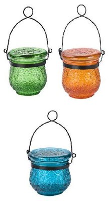 Solar Glass Jar ASSTD (Pack of 12) by Paradise Garden