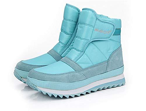 Sneakers Stivali Nero Rosso Uomo Invernali Boots Casual Piatto Impermeabile 45 Outdoor Neve Scarpe Caldo 35 Donna Blu Morbide Chiaro de 4qxxpwvB
