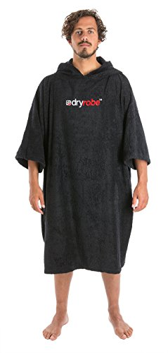 Towel Surf Poncho - Short Sleeve One Size Black ()