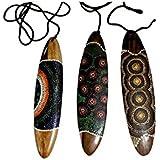Schwirrholz Dot 30 cm Wind Kommunikation besonderer Klang Wirbel Schwirrgerät Dotpainting Punktbemalung Aborigines Naturgeräusch Percussion Weltmusik
