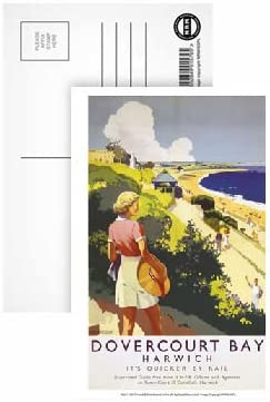 Harwich Pack of 8 - Highest Quality Postcard Dovercourt bay
