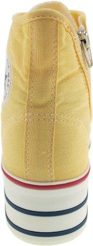 Maxstar C50 7-Fach mit Reißverschluss Fashion Platform High Top Sneakers Gelb