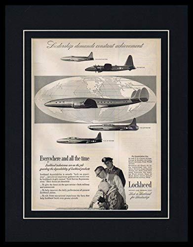 1951 Lockheed Aircrafts Framed 11x14 ORIGINAL Vintage Advertisement