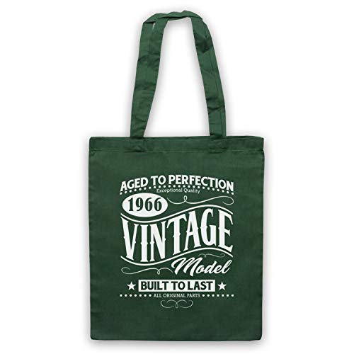 Bolso amp; Year Art Verde In Vintage Model 1966 Birth Clothing Born My Oscuro Date Icon 7HFqwxA