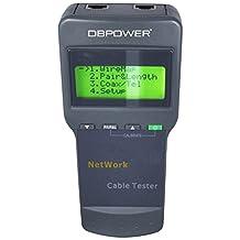 5E 6E SC8108 CAT5 RJ45 Network LAN Length Cable Tester Meter GRAY