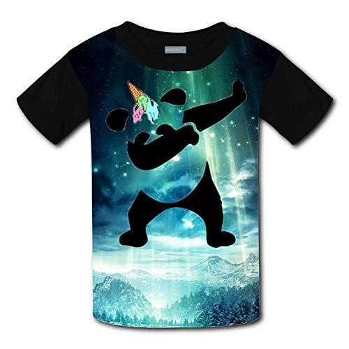 Clofun Child T-Shirts Creative Panda Unicorn with Dabbing