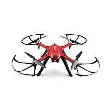 Two-way 2.4G 4CH Brushless Motor RC Quadcopter with Action Camera Bracket RTF Racing Drone Red