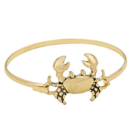 Sailor Scout Costume (Rosemarie Collections Women's Cute Crab Thin Bangle Bracelet (Gold))
