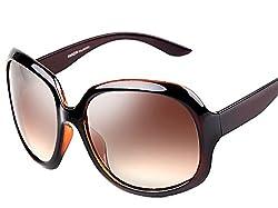 ATTCL® 2015 Oversized Women Sunglasses Uv400 Protection Polarized Sunglasses,3113 Brown