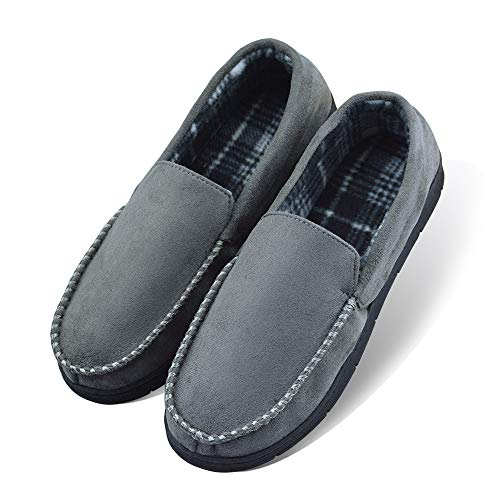 Outdoor Indoor LA Moccasin Microsuede Anti Men's Gray Hardsole Slip with PLAGE Slippers 4w4Xqp