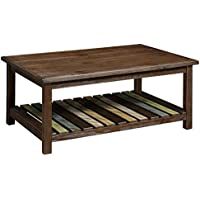 HOMES: Inside + Out IDF-4445C James Coffee Table, Brown Cherry