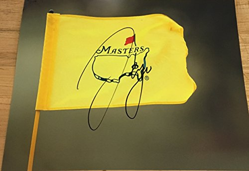 SERGIO GARCIA SIGNED AUTOGRAPH NEW 2017 MASTERS CHAMPION CLASSIC FLAG CHAMPION PHOTO