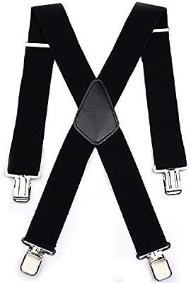 Mens 50MM Wide Heavy Duty Adjustable Elasticated Motorcycle Trouser X Shape...
