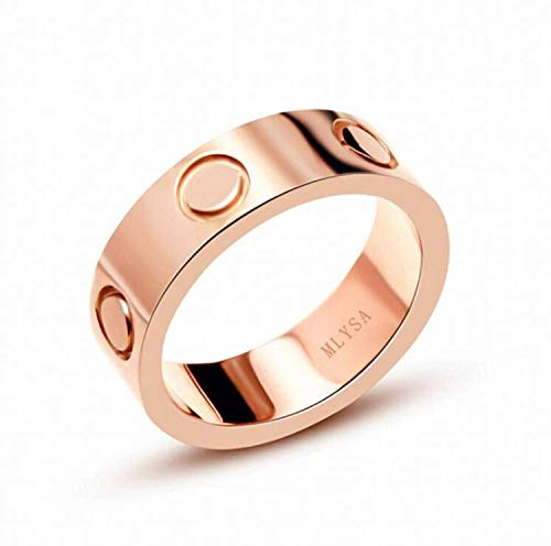 (XUELE Love Ring-Rose Gold Lifetime Just Love You 6MM in Width Sizes 9)