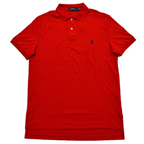 (Polo Ralph Lauren Mens Medium Fit Interlock Polo Shirt (X-Small, RL 2000 Red) )