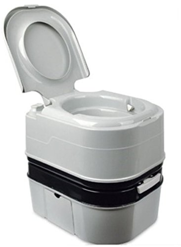 Portable Camping Toilet Portable Toilet Bowl Outdoor Lavatory 24L 25quart 2-Point Water Wash for Outdoor Activities Camping Hiking Construction Site Patients Elderly People Rural Areas Off Road ()
