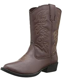 Ranch Unisex Pull On Western Cowboy Fashion Comfort Boot (Little Kid/Big Kid)