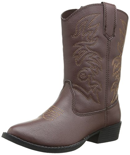 Deer Stags Ranch Kids Cowboy Boot (Toddler/Little Kid/Big Kid), Dark Brown, 12 M US Little Kid -