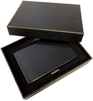 Ultra-Delgada RFID Bloqueo Tarjetas de Crédito Cartera de Acero ...
