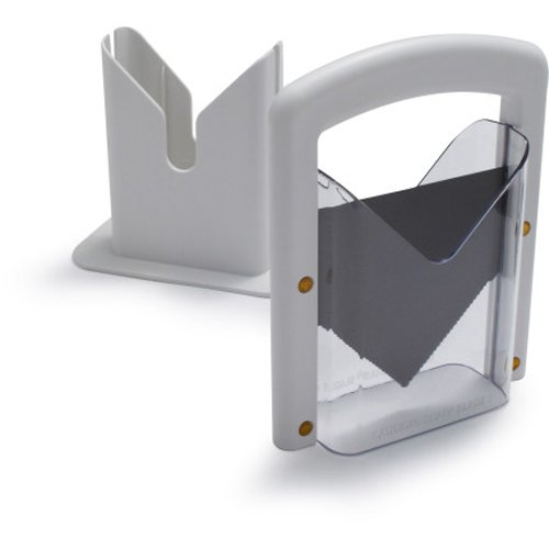 Lifetime Brands Hoan Bagel Guillotine Slicer, White ()