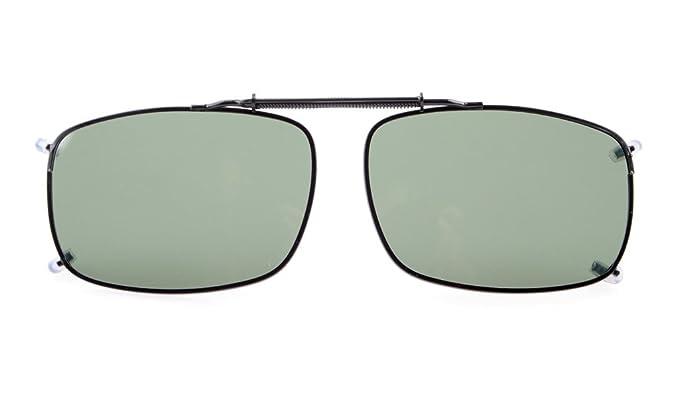 Eyekepper 58x38 MM Clip auf Sonnenbrillen mit Frühlings-Zugdeichsel Polarisiert G15 Linse ccGPW
