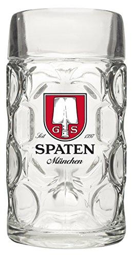 Spaten Munchen Isar Tankard Beer Stein, 1L