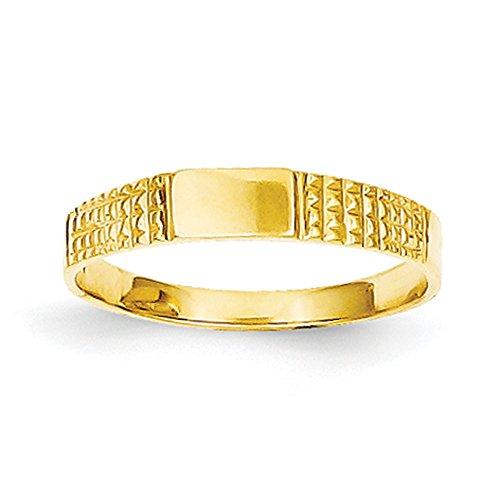 K Yellow Gold Signet Ring (14k Gold Baby Signet Ring)
