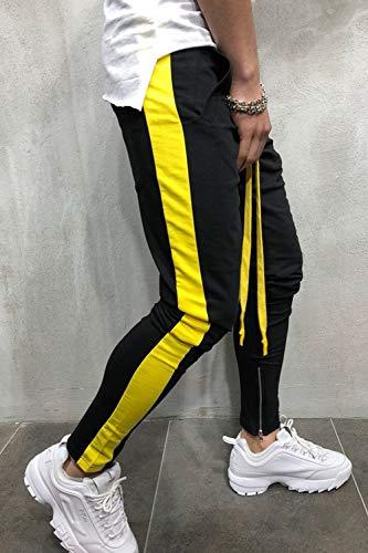 Hop Corridori Uomini A Giallo Esercizio Righe Slim Pantaloni Vepodrau Hip xvZqa808w