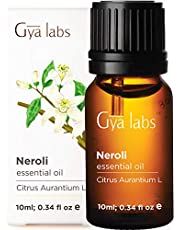 Neroli (Egypt) Essential Oil - 100% Pure Undiluted Natural Therapeutic Grade for Hair, Skin, Face, Acne, Diffuser, Relaxation - 10ml - Gya Labs