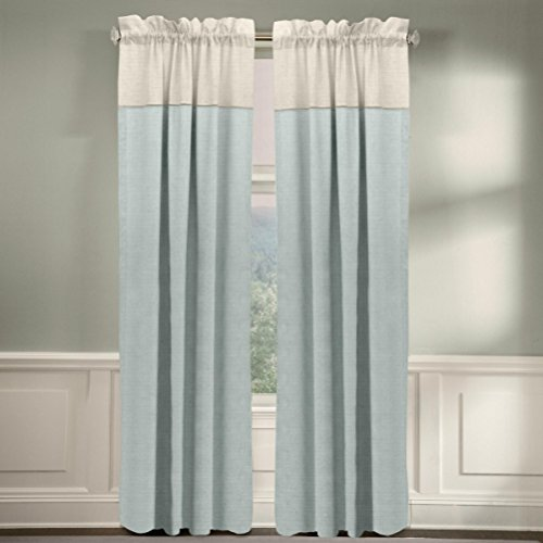 Veratex The Monterey Window Collection Made in the U.S.A. 100% Linen Living Room Rod Pocket Window Panel Curtain, Pearl, 63″