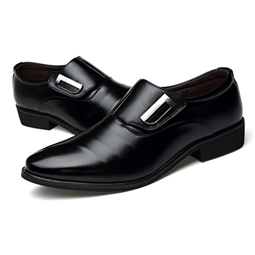Seakee Men s Business Slip-on Dress Shoes Semi-Formal Oxford(Black) US 10   Amazon.ca  Shoes   Handbags 9c7ef6ae6