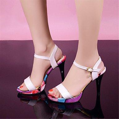 LvYuan Mujer-Tacón Stiletto-Confort Zapatos del club-Sandalias-Oficina y Trabajo Vestido Fiesta y Noche-Purpurina Materiales Personalizados Black