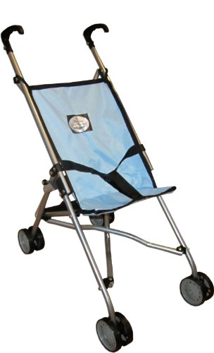 The New York Doll Collection Umbrella Doll Stroller, Blue, Baby & Kids Zone