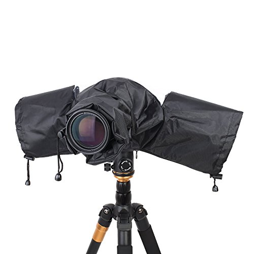 Professional Camera Waterproof Rain Cover for Canon Nikon Pentax DSLR Camera Lens Hood Shield, Photography SLR Camera Rain Sleeve Raincoat