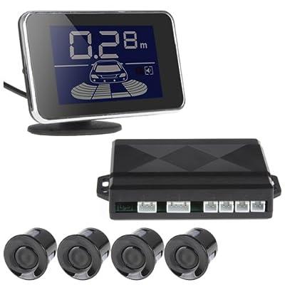 ePathChina® Mini LED Display 4 Sensors Kit Dual CPU Car/Truck/Vehicle Reversing Parking Sensor/Backup Sensor/Reversing Sensors System Radar Buzzer System,Periodic Buzzer Alarm, LED Rader,Three Stage Bi-Bi Sound Alarm System - Black Color