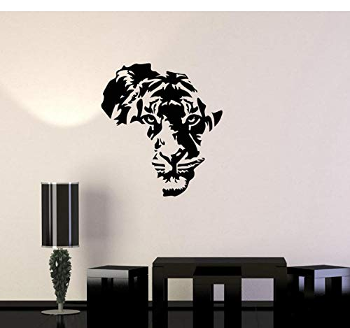 (dwxnzbz Tiger Animal Africa Map Wall Sticker Removable Vinyl Wall Decal Decoration Children's Room Living Room Wall Sticker Decorative Mural 73x84cm)