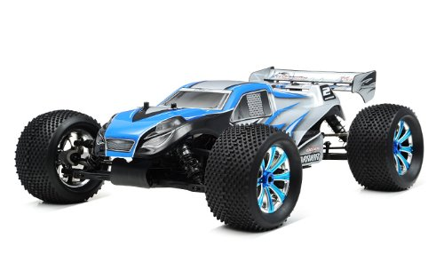 Control Gas Nitro Car Remote (Exceed RC Professional 1/8Th Scale 2.4 Ghz Nitro Powered Ready to Run .28 MadWarrior RTR Racing Edition (Alpha Blue))