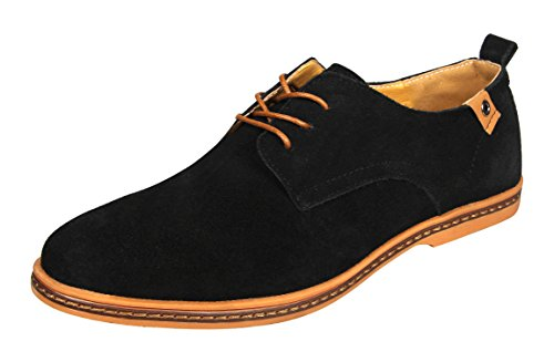 4HOW Klassich (Classic) Herren Black With Suede Leather