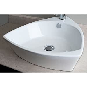 triangular bathroom sinks triangular shaped single vessel bathroom sink 14822